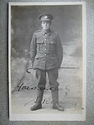 WW1 Cornwall RP. Cornish Soldier by S. Thorn of Bude. Signed.