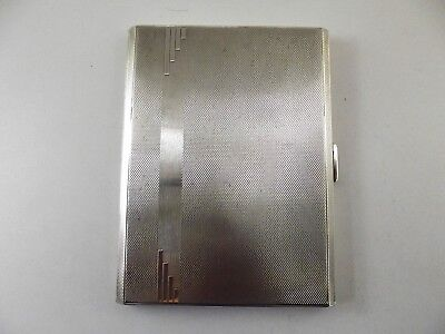 Antique Silver Cigarette Case Birmingham 1948 Ref 52/1