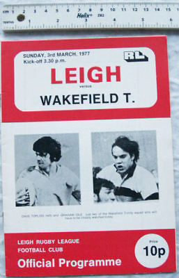 1977 programme Leigh v. Wakefield