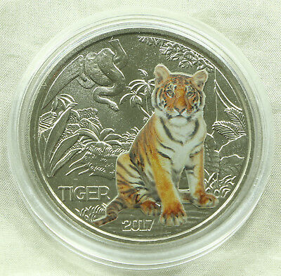 3 Euro Tier Taler Colourful Creatures Österreich Austria Tiger 2017