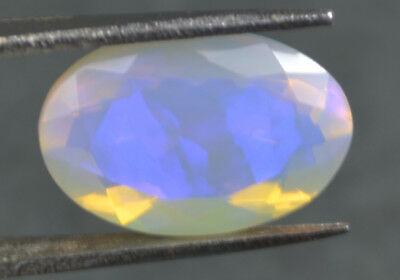 4.10 Cts Natural Ethiopian Fire Opal Welo Untreated Faceted Gemstone OF151U