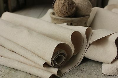 Vintage fabric European old Linen 4.6YDS x 18 homespun material hand-woven cloth