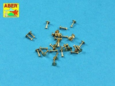 Aber turned hexagonal bolts (1.34 x 2.60mm) 1/16 scale 30 pieces 16112