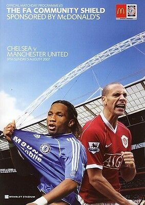 Chelsea v Manchester United, Community Shield     5th August 2007         Mint