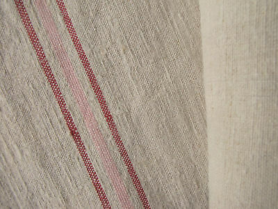 Antique linen 19th Century fabric homespun 4.4 yds 24 in WIDE table runner