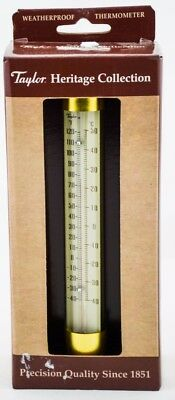 Taylor Heritage Collection 483BS Spirit Filled Metal Thermometer New Original