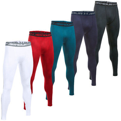 Under Armour Mens HeatGear Armour Printed Legging Base Layer Bottoms 24% OFF RRP