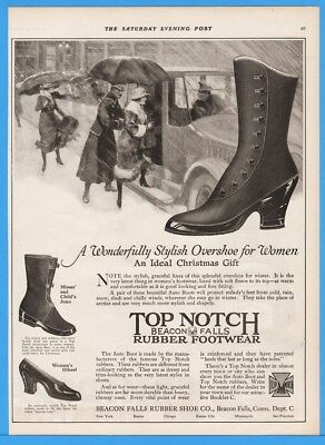 1918 Top Notch Beacon Falls Rubber Shoe CT Ideal Christmas Gift Gaiters Boot Ad