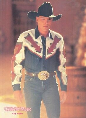 Clay Walker, Country Music Star in 1995 Magazine Print Photo Clipping