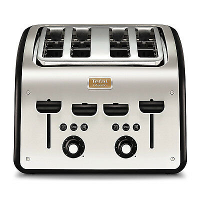 Tefal 4 Slice Maison 1700W Electric Bread Extra-Wide Slot Kitchen Toaster Black