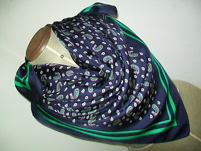 Kfn. Large & Very Smart Swiss Classic Paisley Design Vintage Silk Scarf