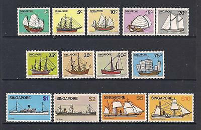 Singapore 1980 Ships set of 13 to $10 MNH but see comments