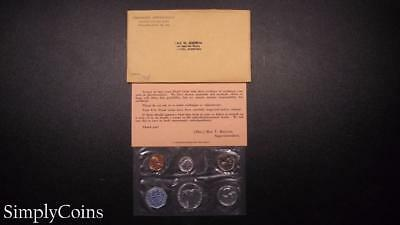 1960 Proof Set ~ Original Envelope With COA ~ US Mint Silver Coin Lot SKU-572