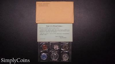 1959 Proof Set ~ Original Envelope With COA ~ US Mint Silver Coin Lot SKU-565