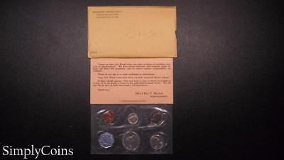 1960 Proof Set ~ Original Envelope With COA ~ US Mint Silver Coin Lot SKU-573