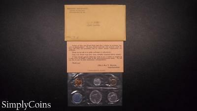 1960 Proof Set ~ Original Envelope With COA ~ US Mint Silver Coin Lot SKU-574