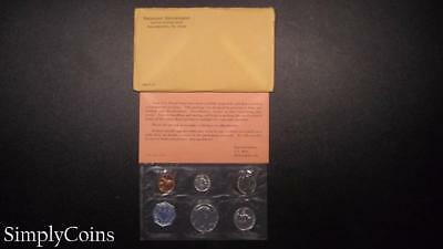 1964 Proof Set ~ Original Envelope With COA ~ US Mint Silver Coin Lot SKU-584