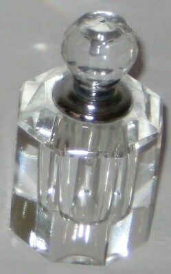 ACRYLIC Clear OCTAGON Shaped PERFUME Scent BOTTLE
