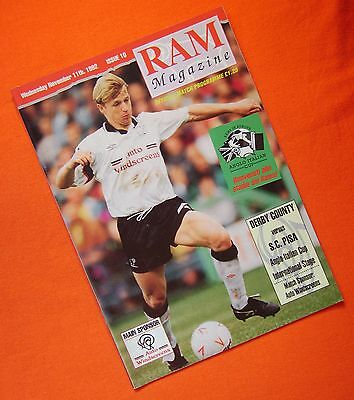 Derby County v S.C. Pisa, Anglo Italian Cup  11th Nov 1992