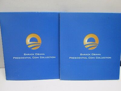 Two Barack Obama Presidential Coin Collections With Coa