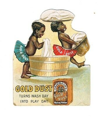 Gold Dust twins early advertising card, circa 1905