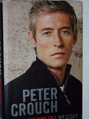 PETER CROUCH..............Autograph in his football  Book....Ex