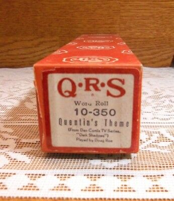 Vintage Qrs Player Piano Roll~ Quentin's Theme (Dark Shadows) # 10-350