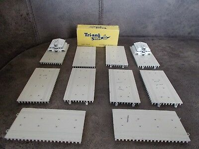 Vintage Triang minic  harbour quay straights  and ocean terminal  1.1200 scale