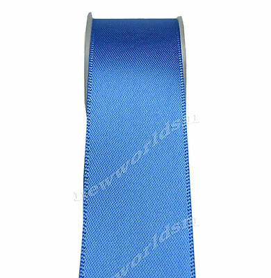 "4y 57mm 2 1/4"" Royal Blue Single Faced Sided Wide Satin Ribbon Eco FREE PP"