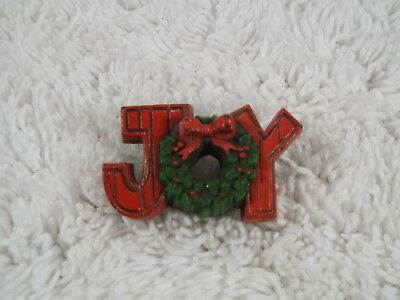 "HALLMARK  "" Joy "" Christmas Pin (D44)"