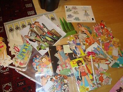 Big lot of paper dolls, 60s and 70s