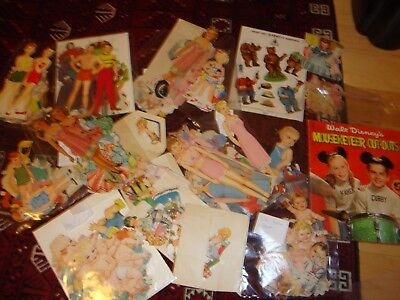 Big lot of paper dolls,
