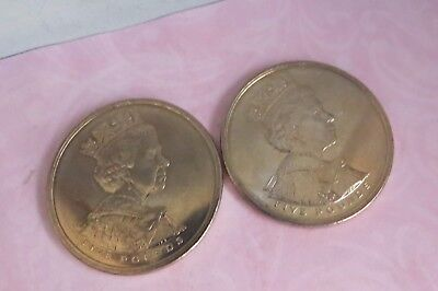 Two 2002 Five Pound COINS