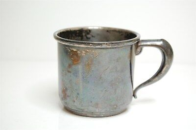 Antique 925 Sterling Silver Cup Mug by Manchester Silver Co. - 103.3g