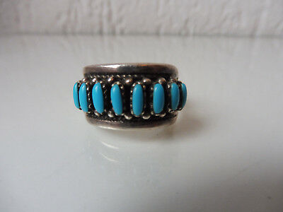 VERY NICE, Old RING __indianerschmuck__ 925 Silver with Turquoise __