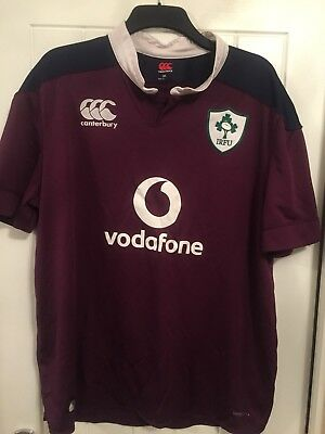 Men's Purple Ireland Rugby Union Shirt Size 3XL By Canterbury