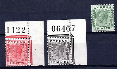 Cyprus (1934)  King George V   1925  part set unmounted Sg118-20