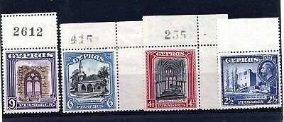 Cyprus (1938)  King George V 4 stamps from 1934  set lightly mounted Sg138-41