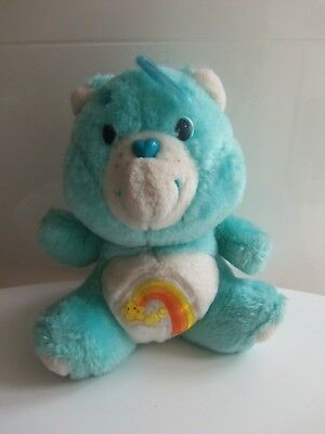 Vintage Care Bears  Peluche Bisounours Grostaquin /17 cm/ Care Bears