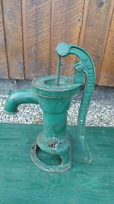 INTERESTING OLD Cast Iron Hand WATER PUMP Signed McDougall GALT