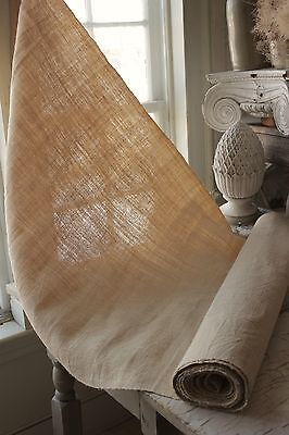 Vintage natural 6.4YDS homespun linen hemp Grainsack fabric material 28 WIDE