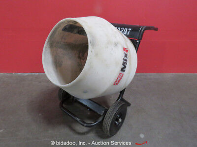 Multiquip MC3PEA Portable Electric Wheelbarrow Concrete Mortar Mixer 3/4HP 115V