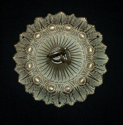 Large Brass Ceiling Rose Chandelier Antique Stunning