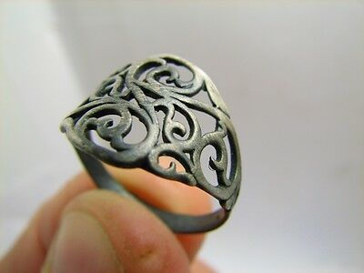 Author's Work ! Interesing Vintage Sterling Silver Ring ! 100% Wearable! #5971