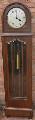 Fab Old Large Gustav Becker Triple Weighted Chiming On 12 Bars Longcase Clock