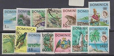 DOMINICA  164-80  Queen Eliz 1963 set used