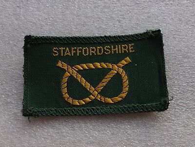 Uk Girl Guides: Mint Cloth Staffordshire County Badge/patch
