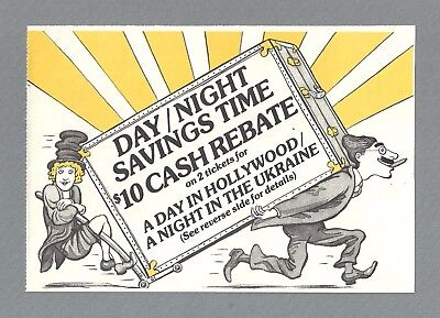 "David Garrison ""A DAY IN HOLLYWOOD"" Marx Brothers 1980 ""CUE"" Ticket Order Coupon"