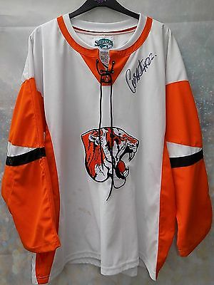 signed Tigers ice hockey jersey by surface size xl