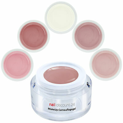 Premium Make Up Camouflage UV Aufbau Gel 15ml Nagel Cover Rouge Natur Milky Rose